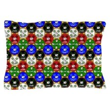 Casino Chips Pattern Pillow Case