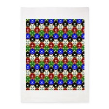 Casino Chips Pattern 5'x7'Area Rug