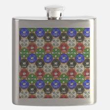 Casino Chips Pattern Flask