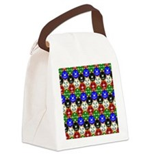 Casino Chips Pattern Canvas Lunch Bag