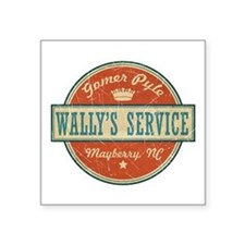 "Wally's Service - Gomer Pyle Square Sticker 3"" x 3"