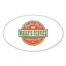 Wally's Service - Goober Pyle Oval Decal