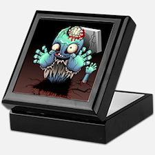 Zombie Monster Cartoon Keepsake Box