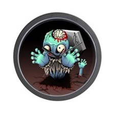 Zombie Monster Cartoon Wall Clock