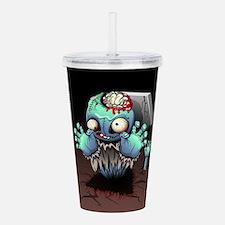 Zombie Monster Cartoon Acrylic Double-wall Tumbler