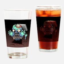 Zombie Monster Cartoon Drinking Glass
