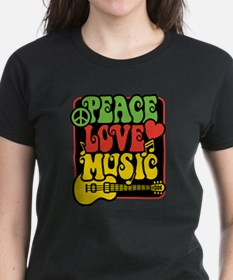 Rasta Peace Love Music T-Shirt