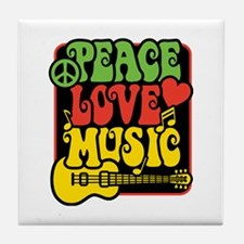 Unique Peace symbol Tile Coaster