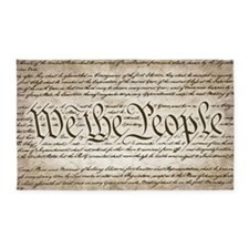 We The People w/ Constitution 3'x5' Area Rug