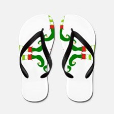 Personalizable Christmas Elf Feet Initial Flip Flo