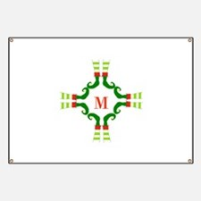 Personalizable Christmas Elf Feet Initial Banner