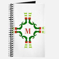 Personalizable Christmas Elf Feet Initial Journal