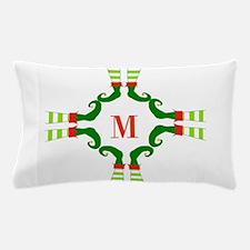 Personalizable Christmas Elf Feet Initial Pillow C