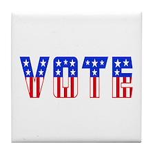 Funny Register vote Tile Coaster