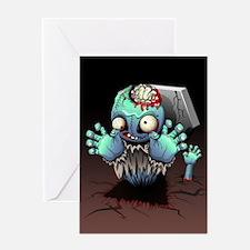 Zombie Monster Cartoon Greeting Cards