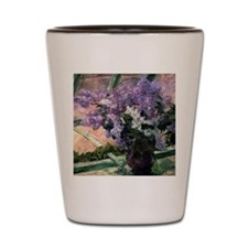 Funny Floral art painting pink Shot Glass