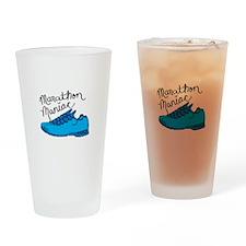 Marathon Maniac Drinking Glass