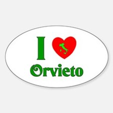 I Love Orvieto Oval Decal