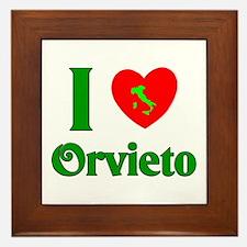 I Love Orvieto Framed Tile