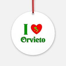 I Love Orvieto Ornament (Round)