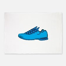 Blue Sneaker 5'x7'Area Rug