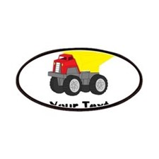 Personalizable Red Yellow Dump Truck Patches