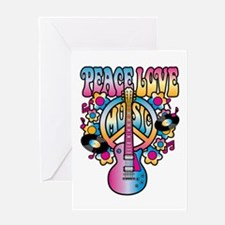 Peace Love & Music Greeting Cards