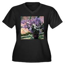 Cassatt Lilacs Vase Plus Size T-Shirt