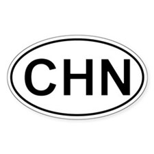 Chn - China Oval Car Decal