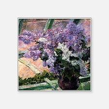 Cassatt Lilacs Vase Sticker