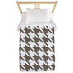 Houndstooth Brown Twin Duvet