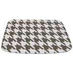 Houndstooth Brown Bathmat