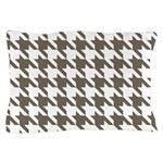 Houndstooth Brown Pillow Case