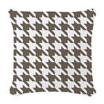Houndstooth Brown Woven Throw Pillow