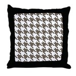 Houndstooth Brown Throw Pillow