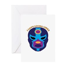 I Love Lucha Libre Greeting Cards