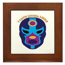 I Love Lucha Libre Framed Tile