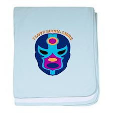 I Love Lucha Libre baby blanket