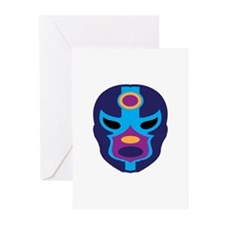 Lucha Libre Mask Greeting Cards