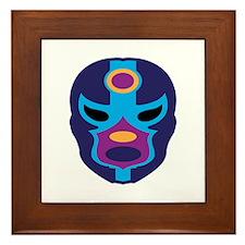 Lucha Libre Mask Framed Tile