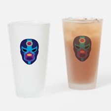 Lucha Libre Mask Drinking Glass