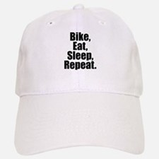 Bike Eat Sleep Repeat Baseball Baseball Baseball Cap