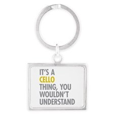 Its A Cello Thing Landscape Keychain