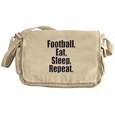 Football Eat Sleep Repeat Messenger Bag