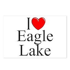 """I Love Eagle Lake"" Postcards (Package of 8)"