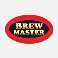 Brew Master Oval Car Magnet