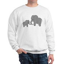 Cute Elephants Mom and Baby Sweatshirt