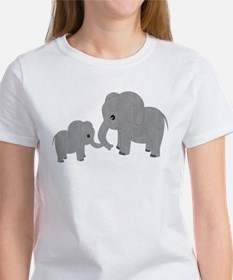 Cute Elephants Mom and Baby T-Shirt