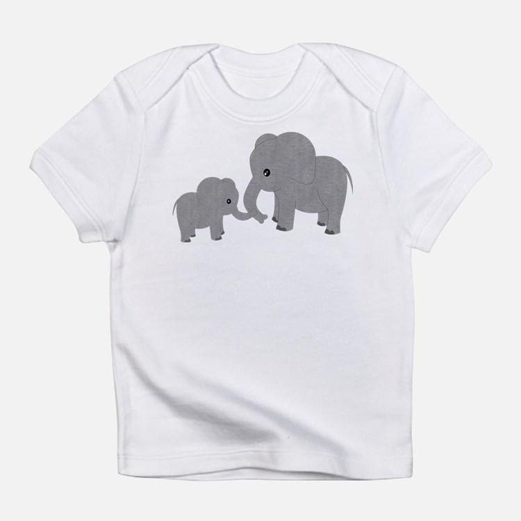 Cute Elephants Mom and Baby Infant T-Shirt