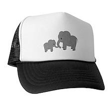 Cute Elephants Mom and Baby Trucker Hat